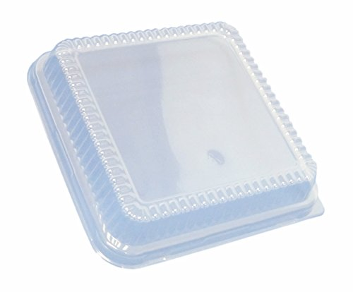 Durable Packaging P1155-500 Plastic Dome Lid for Square Cake Pan, 8