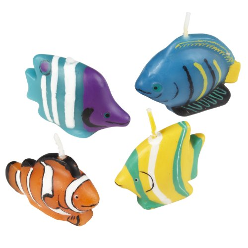 Wilton 2811-9333 4-Piece Tropical Fish Candle Set