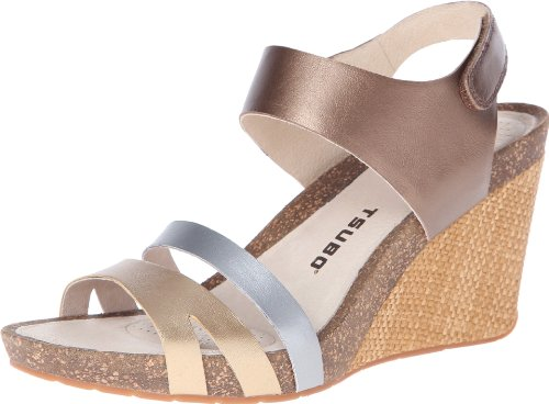 Bronze Wedge Sandals front-1021960