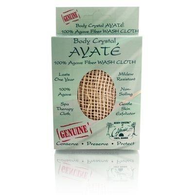 Body Crystal Ayate 100% Agave Fiber Wash Cloth Cream