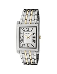 Seiko Men's SKP359 Off White Dial Two-Tone Stainless Steel Watch