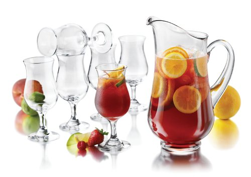 Libbey 7-Piece Sangria Set (Pitcher and Footed Glasses)