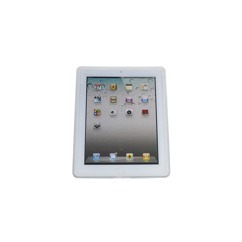Koolertron (TM) For Apple iPad 2 Soft Rubber Silicone Case Skin Cover Faceplate  White