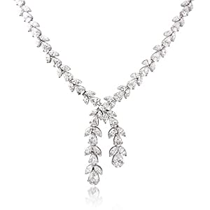 Diamond Platinum Drop Necklace