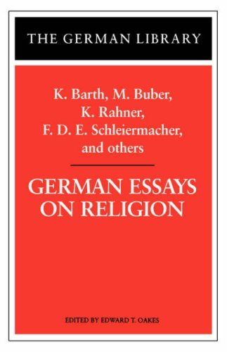 German Essays on Religion (German Library), EDWARD T. OAKES