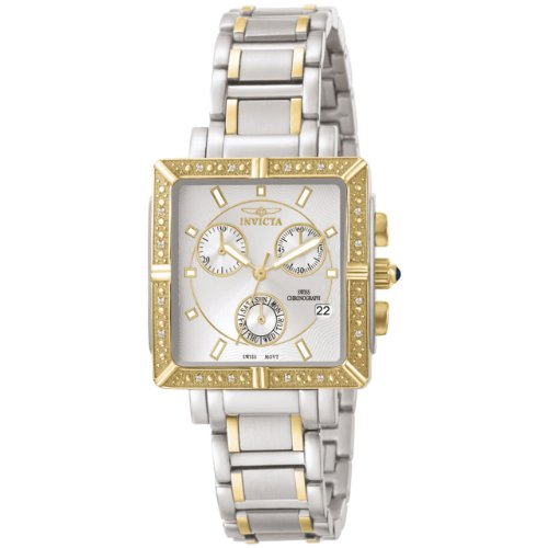 Invicta Women's 5378 Square Angel Diamond Two-Tone Chronograph Watch