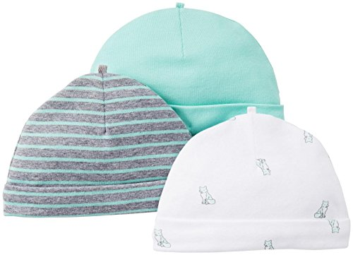 Carter'S Baby Boys' 3 Pack Caps (Baby) - Mint - 0-3 Months front-12535