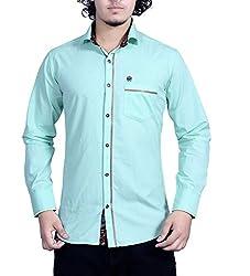 Bucci Men's Casual Shirt _bc106_Green_L