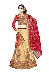 holborn women's lahengha choli heavy work(beige)sarees