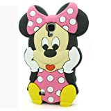 For Samsung Galaxy S4 IV i9500 3D Cartoon Lovely Cute Disney Soft Silicone Case Cover (Mickey - 3)