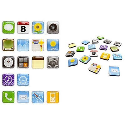 Coveron® Home Kitchen Decor 3-D Apps Icon Magnets Refrigerator 18 Pcs Set front-55440