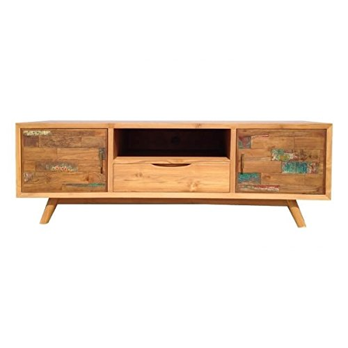 Mobile TV, in legno massiccio, colore: legno, 145 cm