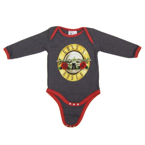 Amplified Guns n Roses Baby wachsen Holzkohle 1218 Holzkohle Picture