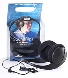 Polar Fusion Acoustic, Tri-Season Ear Warmers Featuring Stereo Headphones and Warm Fleece Ear Pockets. One Size. Non-Traditional Ear Muffs.