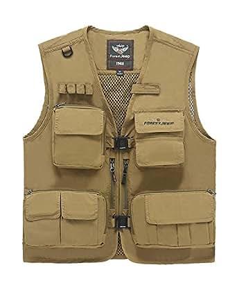 Micmall men 39 s milty travels sports outdoor safari vest fly for Fishing vest amazon