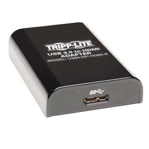 Tripp Lite USB 3.0 SuperSpeed to HDMI Dual Monitor External Video Graphics Card Adapter 512 MB SDRAM - 2048x1152,1080p(U344-001-HDMI-R)