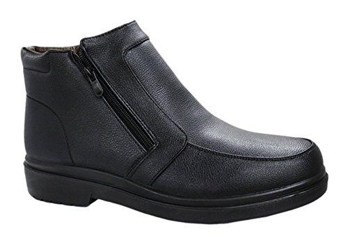 Scarpe Stivaletti uomo nero casual sneakers invernali con pelliccia numero 40 41 42 43 44 45 (41, nero)