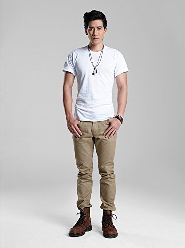 Double Goose Men's comfort Soft T-shirt Traditional white Made from 100% Cotton 1pc. size 40/L