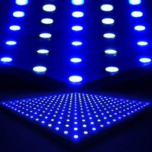 225 Led Indoor Garden Grow Light Blue White Panel Hydroponic Veg Clone Bloom Aquarium Lamp