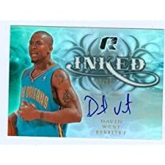 David West Autographed Hand Signed Basketball Card (New Orleans Hornets) 2009 UD...