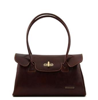 Tuscany Leather Rosita - Italian Leather Handbag Brown