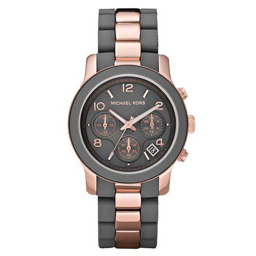 5ca10e66e40c Compare   Michael Kors Women s MK5465 Runway Grey Rose Gold Tone Stainless  Steel Watch !