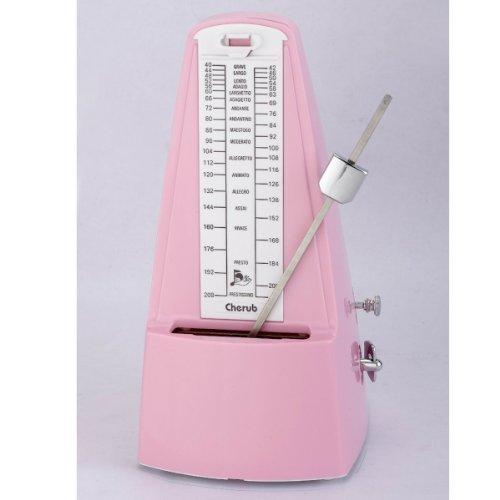 New Cherub WSM-330 High Accuracy Mechanical Metronome Tempo Range 40~208bpm Downbeat Pink by Cherub