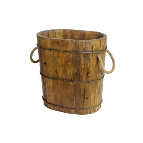 Antique Revival Altai Tapered Wooden Bucket, Natural