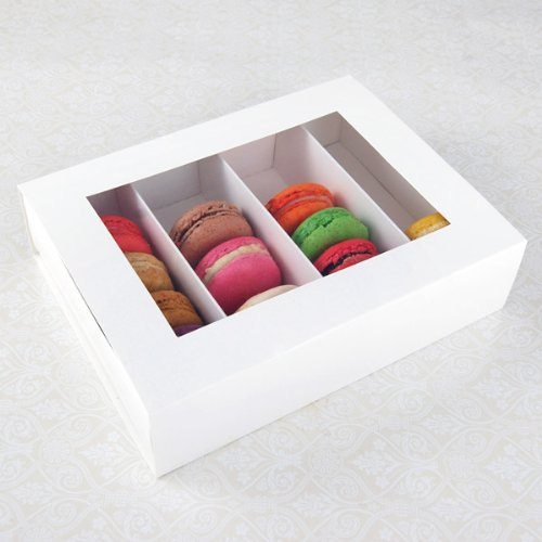 25 Sets Of White Macaron Boxes For 24 Macarons 3 60 Per