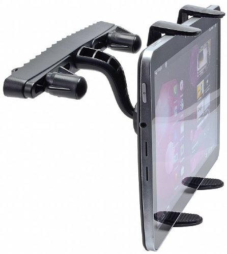 High Grade HP TouchPad 16 GB Black Tablet Robust 360° Adjustable Headrest Swivel Mount w/ Cradle Car Kit Holder
