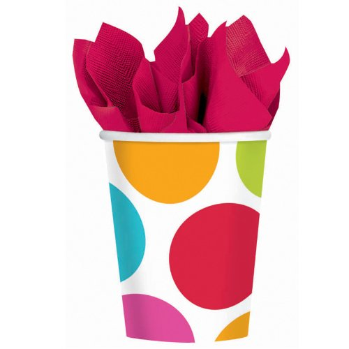 Cabana Dots 9 oz. Paper Cups