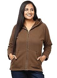 GRAIN Brown Color Regular fit Cotton Autumn Jackets for Women