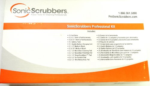 Sonic Scrubbers Professional Rechargeable Scrubber Kit