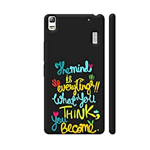 Colorpur The Mind Is Everything Quote Designer Mobile Phone Case Back Cover For Lenovo A7000 | Artist: Woodle Doodle