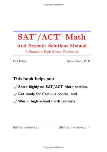 Sat /Act Math And Beyond: Solutions Manual (A High School Math Workbook, Vol 2)