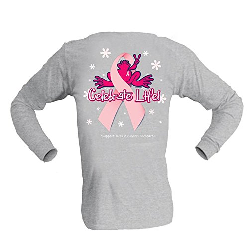 peace-frogs-celebrate-life-breast-cancer-long-sleeve-shirt