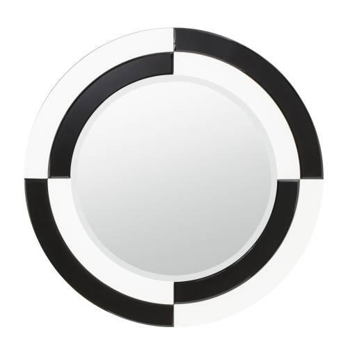 Kichler Lighting 78185 Riley 31-Inch Beveled Mirror, Black And White Beveled Glass Frame front-888724