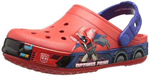 Crocs Transformers Optimus Prime Clog (Toddler/Little Kid), Flame/Cerulean Blue, 4/5 M US Toddler