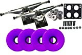 LONGBOARD Skateboard TRUCKS & WHEELS COMBO 76mm PURPLE