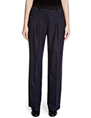 Per Una Roma Wide Leg Chalk Striped Trousers