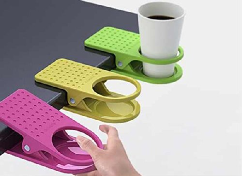 New Drink Can, Soda Can, Cup Holder with Small Pen Holder Clips to Table Desk Coffee Drinks Holder Clip