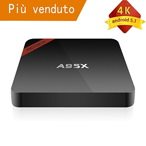 Android TV Box A95X Amlogic S905 Quad Core Cortex A53 2.0GHz 3D Wifi Smart Medier Player Android 5.1 1G / 8G H.265