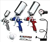 Advanced Tool Design Model  ATD-6900  9-Piece HVLP Spray Gun Set