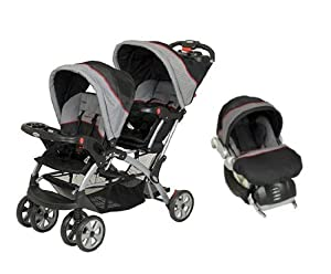 baby trend sit n stand double travel system millennium infant car seat stroller. Black Bedroom Furniture Sets. Home Design Ideas