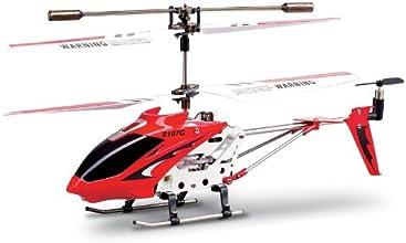 Syma S107G 2nd Edition - Helicóptero teledirigido para interiores, color rojo