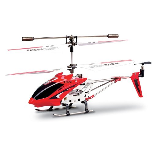 Syma 2nd Edition S107 S107G New Version Indoor Helicopter (Red)