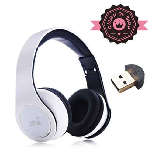 Hd830 White Bluetooth Stereo Headphone - Supports Wireless Music Streaming And Hands-Free Calling