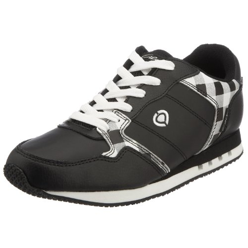 C1RCA Men's Crook Running Shoe Black/White Checkers CRKRDWT 4 UK