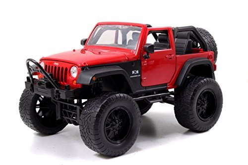 2007 Jeep Wrangler Red Off Road 1/24 by Jada 97446 (Red Jeep compare prices)