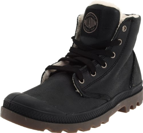 PALLADIUM Men's Pampa Hi Leather S-m Black Pilot Walking Boot 02609-072-M 8 UK